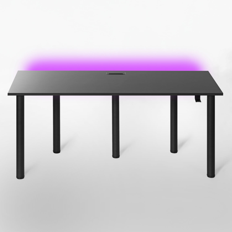 czarny stół gamingowy