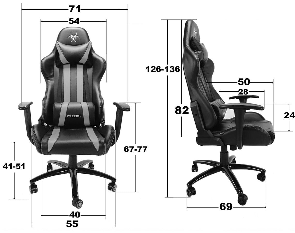 wymiary fotela gamingowego
