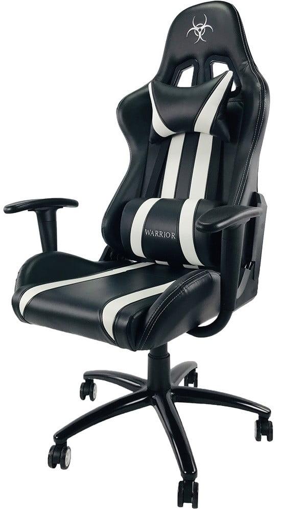 czarno biały fotel