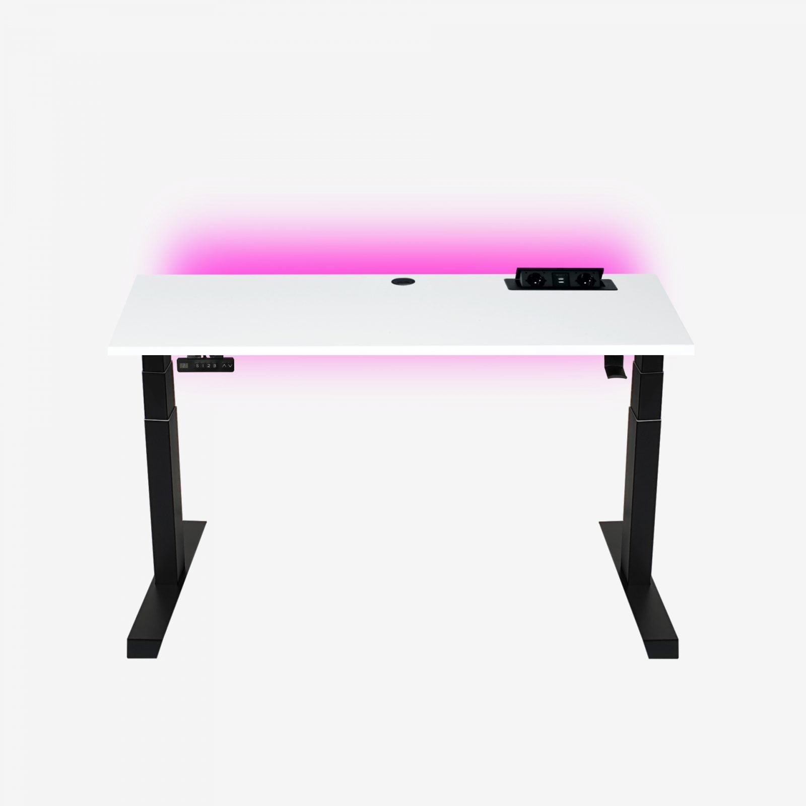 biurko z mediaportem wysokie